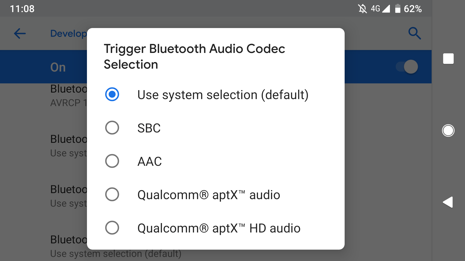 bluetooth options